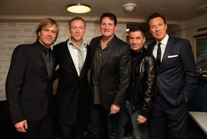 Spandau Ballet pictured on March 25, 2009 after making a public announcement that they were reuniting for a new tour