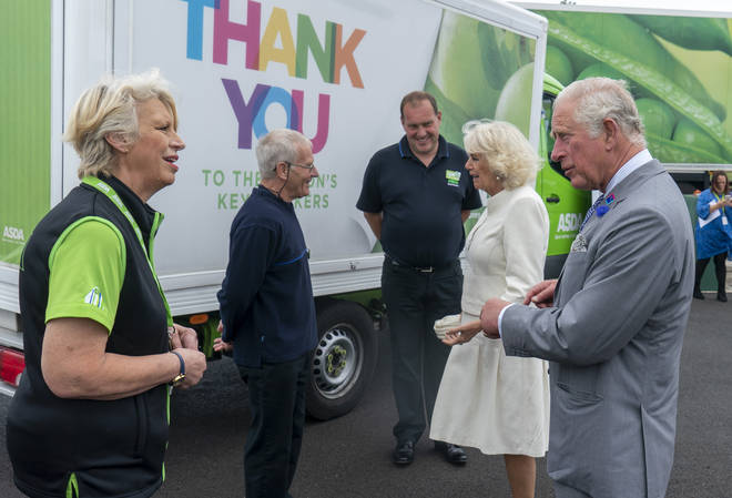 After the incident, Charles and Camilla met with other Asda workers to thank them for their hard work during the pandemic