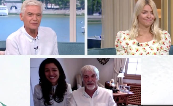 Holly Willoughby was very unhappy with Bernie Ecclestone's comments