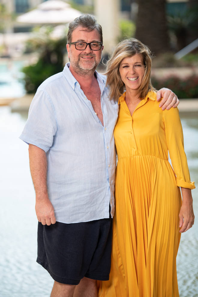 Kate Garraway pictured with husband Derek Draper in 2019