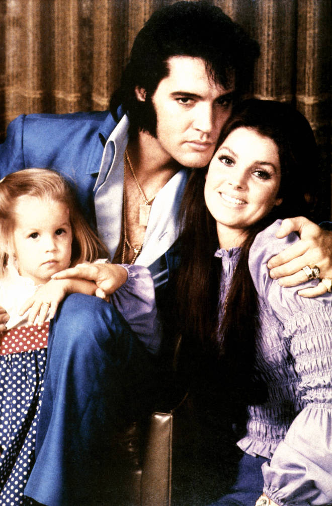 Lisa Marie Presley was Elvis's only child. Pictured in 1970 with her father and mother Priscilla in