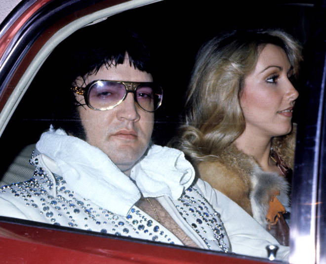 Elvis Presley With Girlfriend Linda Thompson shortly before his death, pictured in March 1976