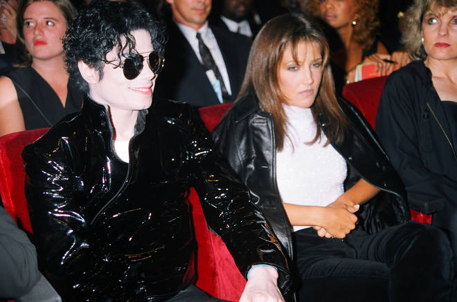 Michael Jackson & Lisa-Marie Presley at the 1995 MTV Video Music Awards Show