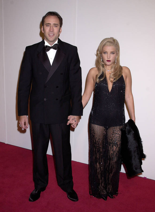 Nicolas Cage & Lisa Marie Presley pictured in 2001