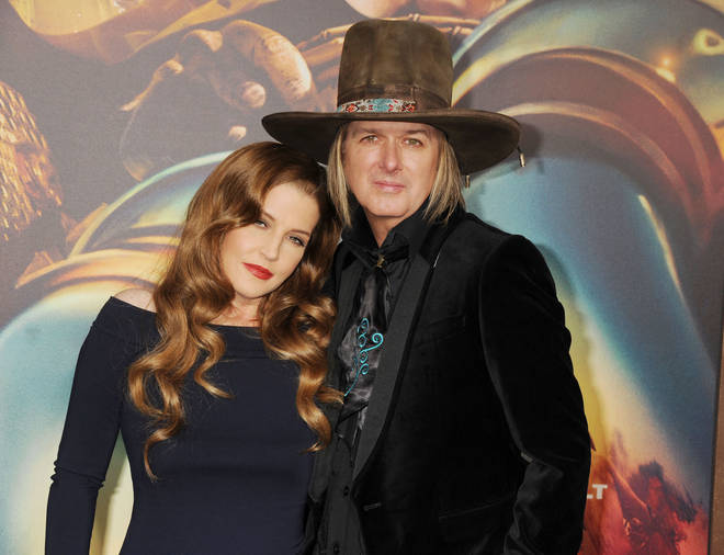 Lisa Marie Presley and husband musician Michael Lockwood pictured in 2015