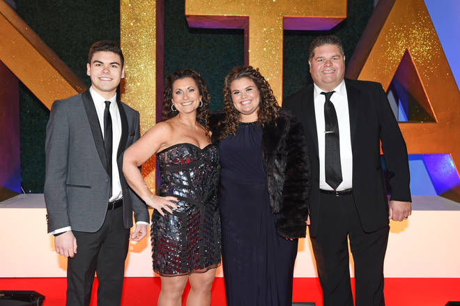 Josh Tapper, Nikki Tapper, Amy Tapper and Jonathan Tapper of Gogglebox attend the National Television Awards on January 25, 2017 in London