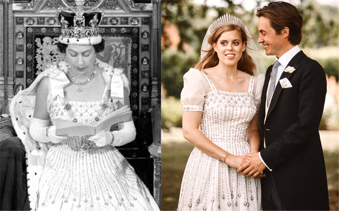 Princess Beatrice Wedding The Queen Gave Her Own 59 Year Old