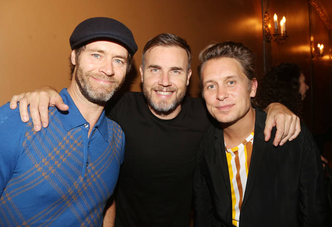 Take That's Howard Donald, Gary Barlow and Mark Owen