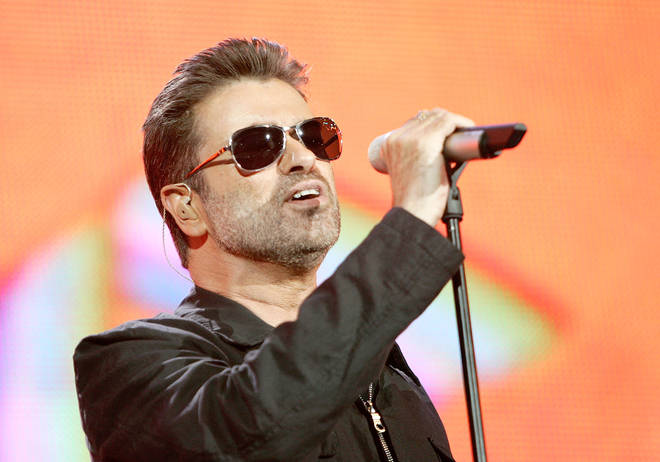 "George Michael performs on stage at ""Live 8 London"" in Hyde Park on July 2, 2005 in London, England."