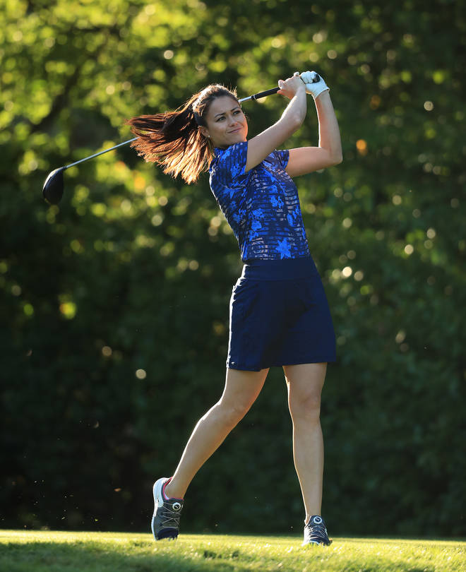 Sam Quek in action during the Pro Am event prior to the start of the BMW PGA Championship at Wentworth Club on September 18, 2019 in Virginia Water, United Kingdom.