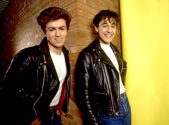 George Michael and Andrew Ridgeley in Wham!