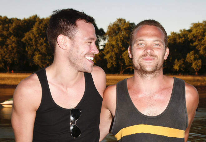 Will Young and brother Rupert Young, pictured together in 2008