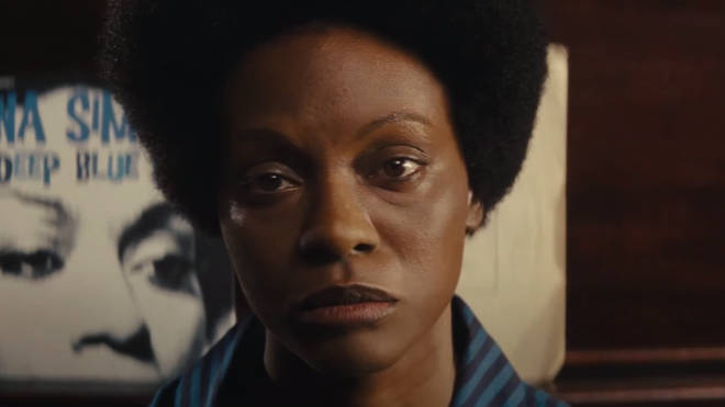 Zoe Salanda darkened her skin to play Nina Simone in the 2016 biopic, pictured.