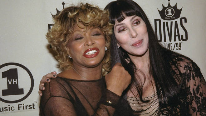 Tina Turner and Cher after their perfomances at the VH1 Divas Live Concert, April 13 1999