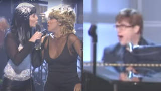 Cher, Tina Turner and Elton John performing 'Proud Mary' at the VH1 Divas '99 concert on April 13, 1999