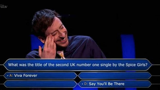 Contestant Paul Curievici was stumped by the £64,000 Spice Girls question and eventually used all four lifelines to get the correct answer