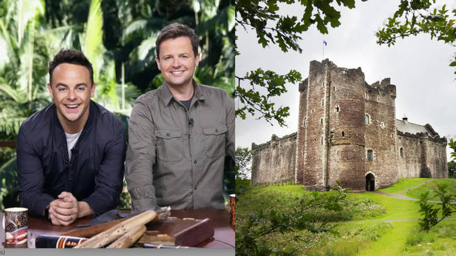 Ant and Dec will return for I'm a Celebrity 2020 where teh show will be broadcast live every night from a ruined castle in the UK countryside. Left, Ant and Dec. Right, stock image.