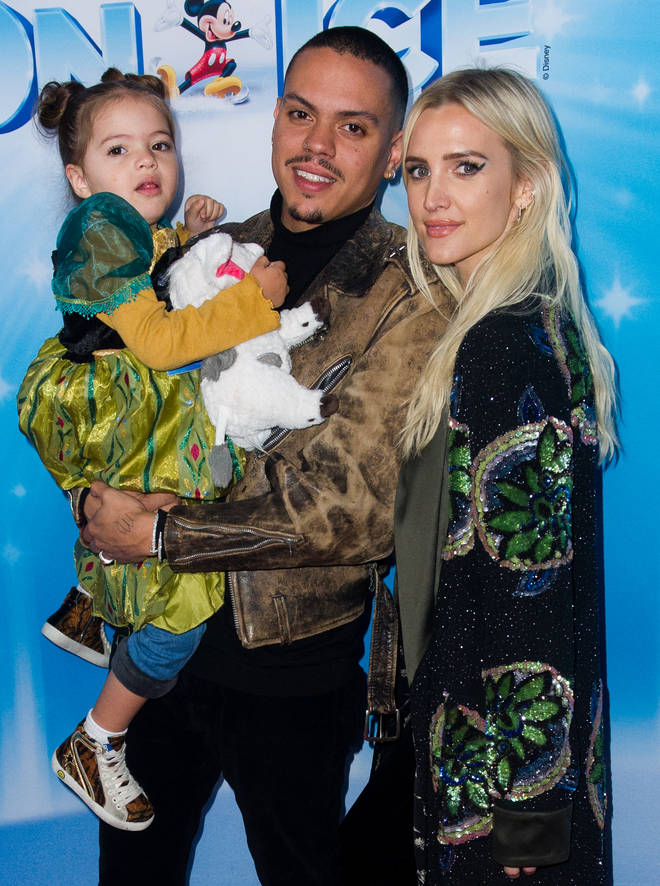 Evan Ross has shared an adorable video of his daughter Jagger Snow singing on his Instagram page. Pictured: Evan Ross and Ashlee Simpson with their daughter Jagger Snow