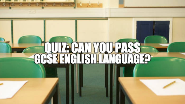 Quiz Could You Pass Gcse English Language Smooth