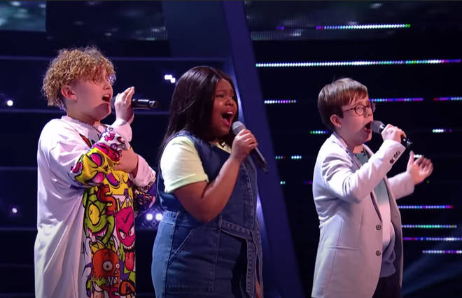 Sonny, Hayley and James were competing in The Battles round of The Voice Kids when they sang the beautiful version of the Simon & Garfunkel song to the audience and judges