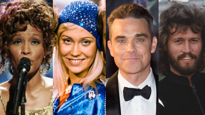 Whitney Houston, ABBA, Robbie Williams and the Bee Gees are all feature on the top 30 ultimate dance floor fillers list
