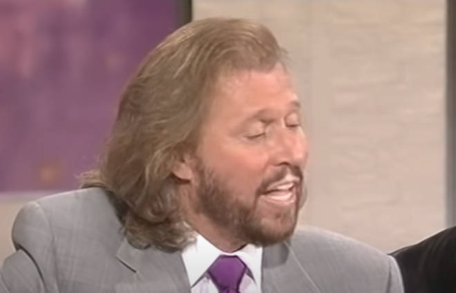Barry, Robin and Maurice Gibb gave the spontaneous performance whilst appearing on Des O'Connor Tonight in 1998. Pictured, Barry Gibb.