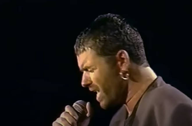 George Michael sings Careless Whisper on stage at Rock in Rio, 1991