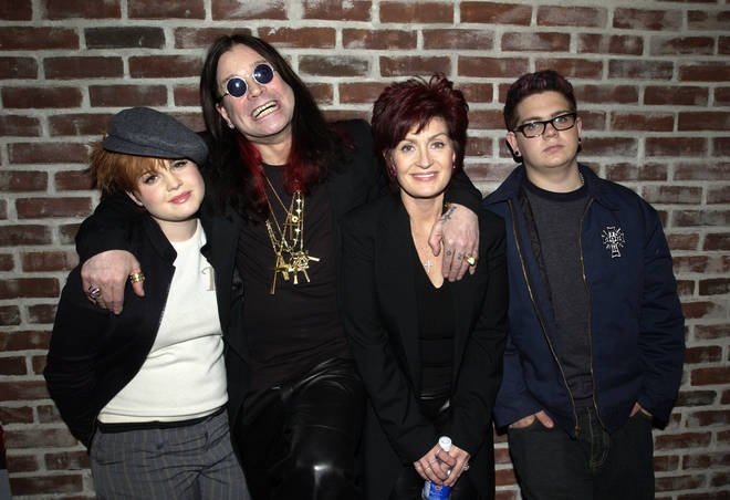 Kelly Osbourne, Ozzy Osbourne, Sharon Osbourne and Jack Osbourne, pictured in 2002