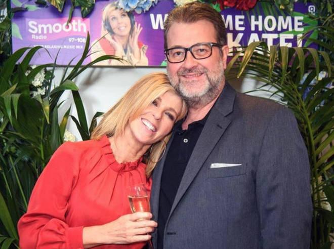 Kate Garraway with her husband Derek Draper at Smooth Radio in 2019.