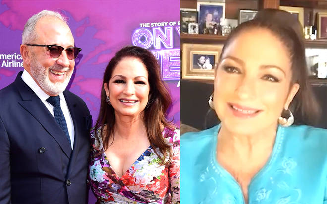Gloria Estefan with her husband Emilio Estefan | Gloria Estefan on a virtual chat with Smooth Radio