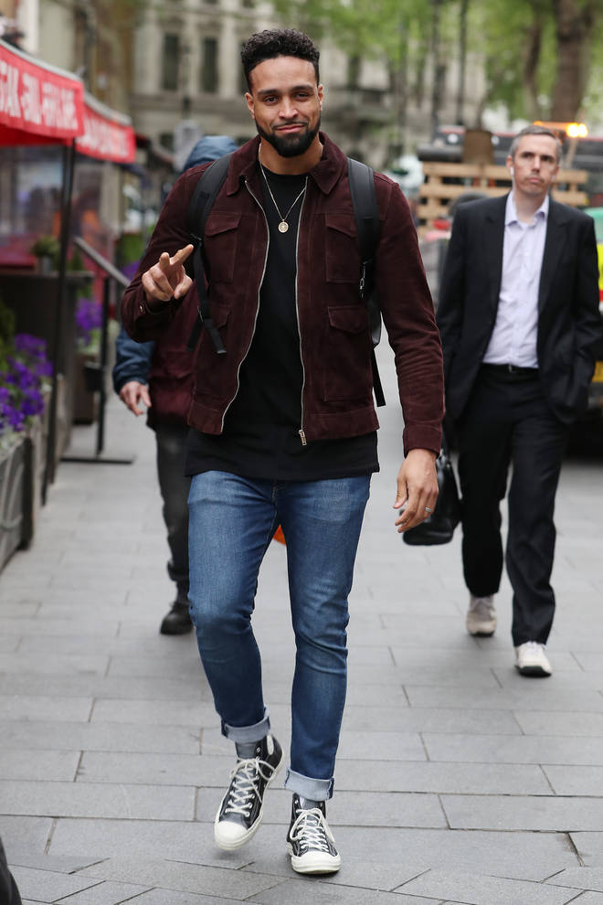 Ashley Banjo has been announced as Simon Cowell's replacement on Britain's Got Talent 2020. Pictured, Ashley arriving at the Capital radio studios in 2019.