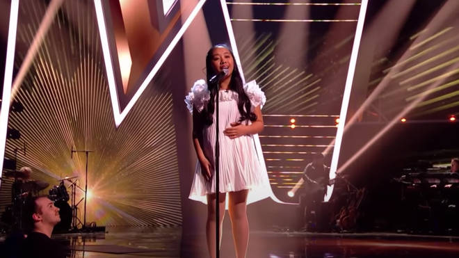Justine was competing for a place in the final of The Voice Kids and pulled out all of the stops for the performance.