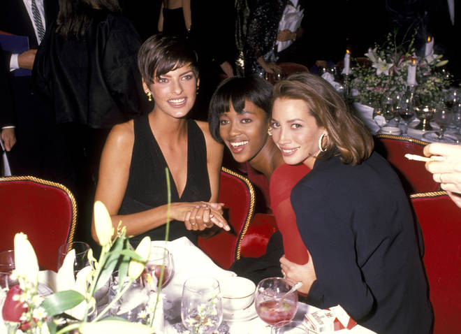 Supermodels Linda Evangelista, Naomi Campbell, and Christy Turlington were at the height of their fame in the 1990s