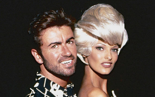 Five supermodels Naomi Campbell, Linda Evangelista (pictured with George Michael), Tatjana Patitz, Christy Turlington, and Cindy Crawford starred in the Freedom! '90 music video