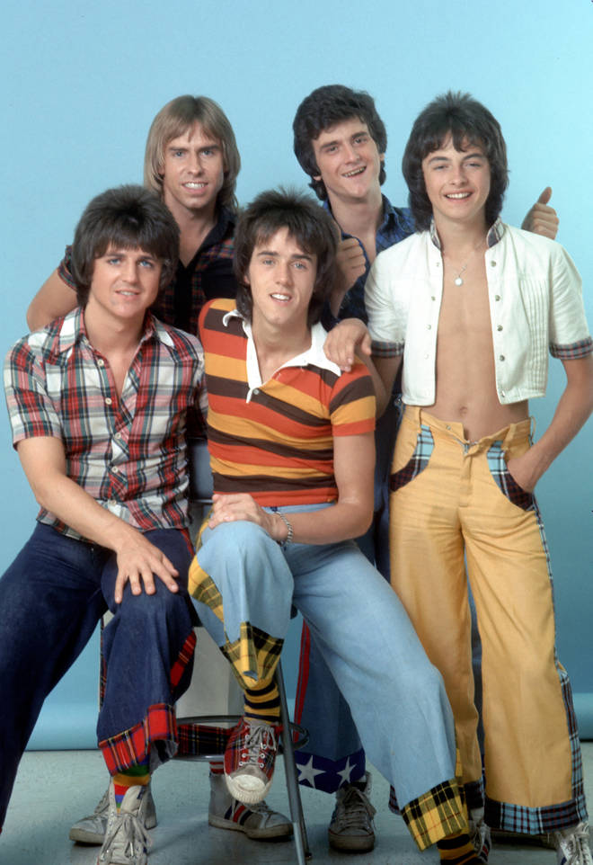 Ian Mitchell with the Bay City Rollers
