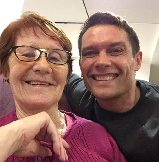 John Partridge and his mum Bridget
