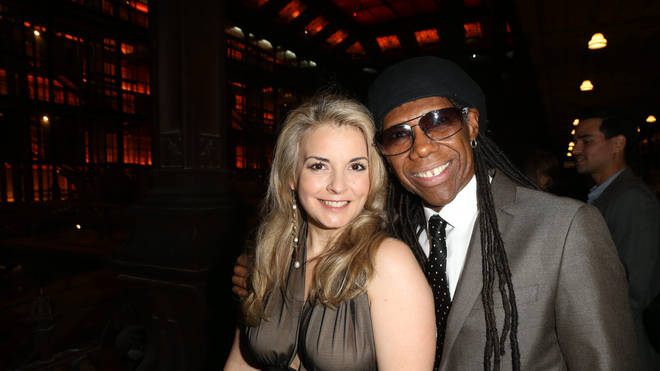 Nile Rodgers with Nancy Hunt in 2013