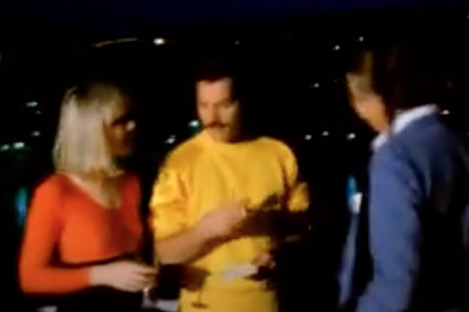Freddie Mercury and Mary Austin were being interviewed ahead of the Hungarian Rhapsody: Queen Live in Budapest concert in Budapest on 27 July 1986