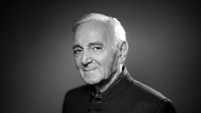 FRANCE-MUSIC-AZNAVOUR-PORTRAIT-BLACK AND WHITE