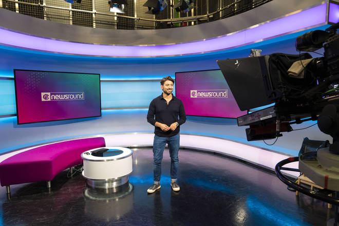 The Newsround studio in 2020