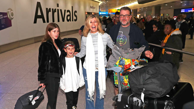 Kate Garraway with husband Derek Draper and their two children, Darcey and Billy