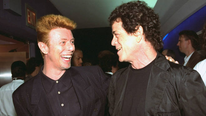 The video was uploaded by sound engineer Mark Saunders who recorded the session while working with Bowie on the soundtrack to Absolute Beginners. Pictured, Bowie and Lou Reed in 1996
