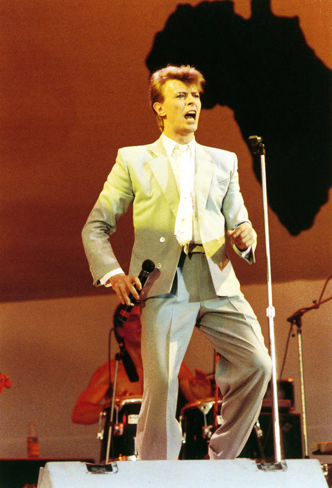 The recording was made just a month after David Bowie performed at Live Aid, Wembley Stadium July 13, 1985