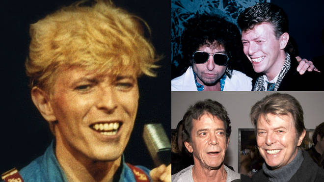 The clip from August 18, 1985 hears the Starman singer impersonating Bruce Springsteen, Tom Waites, Neil Young, Bob Dylan and his good friends Iggy Pop and Lou Reed at the London recording session.