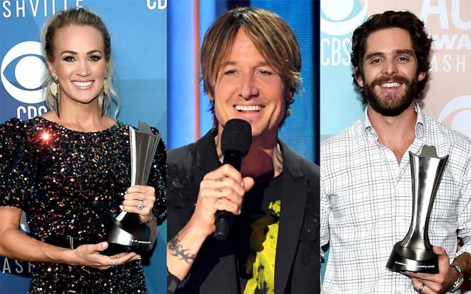 Carrie Underwood and Thomas Rhett tie at 2020 ACM Awards - full list of winners revealed