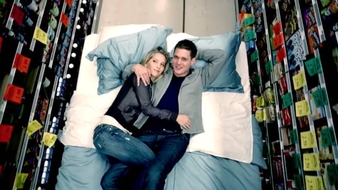 Luisana Lopilato and husband Michael Bublé in his music video for 'Haven't Met You Yet'