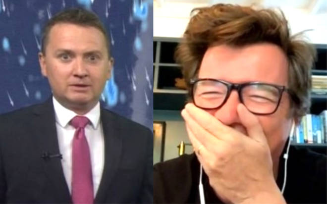 TV weatherman shocked after Rick Astley hears him say he's 'not a fan'