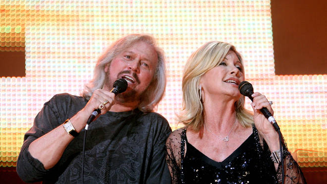 Barry Gibb and Olivia Newton-John in 2009