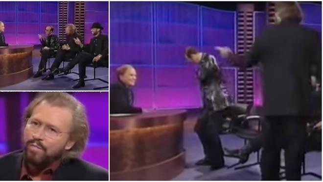 Barry Gibb and his brother Maurice and Robin famously walked out of the interview with Clive Anderson in 1997