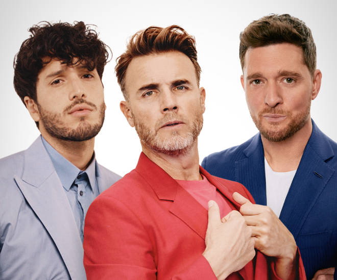 Gary Barlow, Michael Buble and Sebastian Yatra